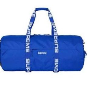 Blue supreme duffle bag